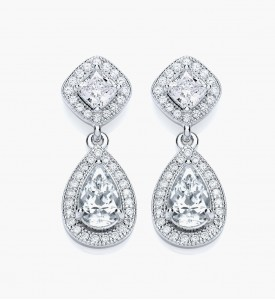 Silver Diamond earing