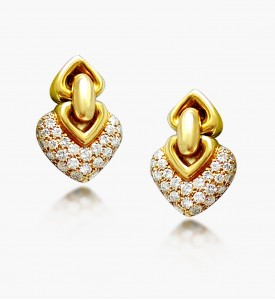 Gold Diamond Earing